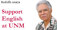 Support English at UNM: Rudolfo Anaya
