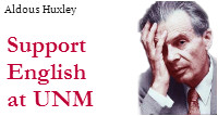 Support English at UNM: Aldous Huxley